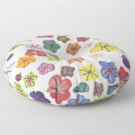 Floral art mille fiori Floor Pillow