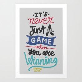 GAME Art Print