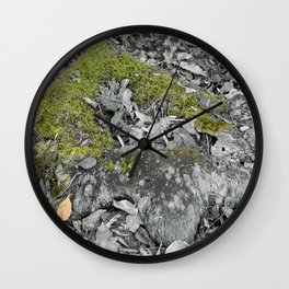 Mossy Stump Wall Clock