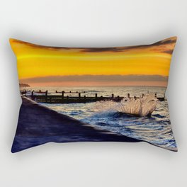 Ocean sunset at walcott Rectangular Pillow