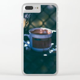 Birds and Coffee Clear iPhone Case