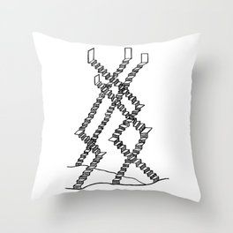 Crooked Stairs Throw Pillow