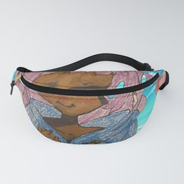 Pink Hair Lady Fanny Pack