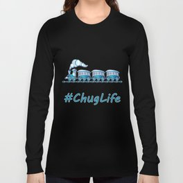 #ChugLife Blue Train Long Sleeve T-shirt