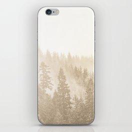 Vintage Sepia Fir Trees iPhone Skin