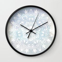 pastel lace design Wall Clock