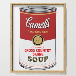 Camell's Soup CREAM OF CROSS COUNTRY SKIING Pop Art Serving Tray