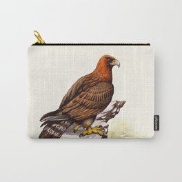 Watercolor Golden Eagle Carry-All Pouch