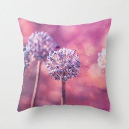 Delicate Morning Throw Pillow