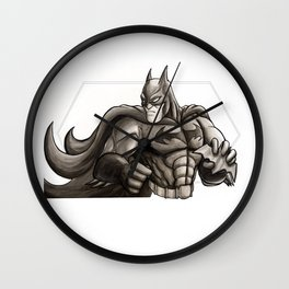 Fifty Shades of the Bat Wall Clock