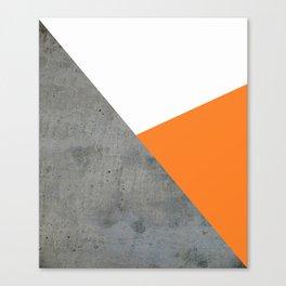 Concrete Tangerine White Canvas Print
