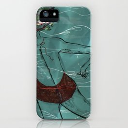 Blue Swimmer no. 6 iPhone Case