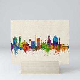 Durham North Carolina Skyline Mini Art Print