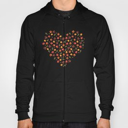Autumn Leaves Pattern Black Background Hoody
