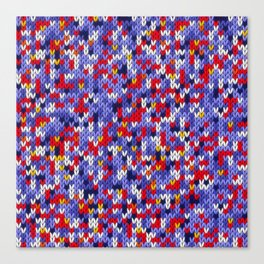 Knitted multicolor pattern 2 Canvas Print
