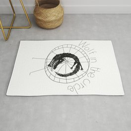 wolf in the circle 2 Rug