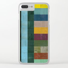 Wooden Abstract Vl Clear iPhone Case