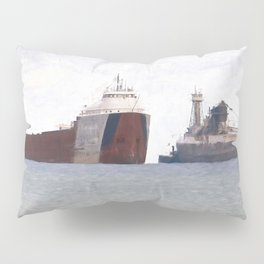 Great Lakes Freighters Pillow Sham