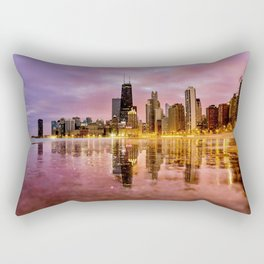 Chicago Reflections Rectangular Pillow