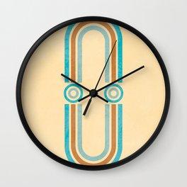 Arch Symmetry 02 - Mid Century Modern Print Wall Clock