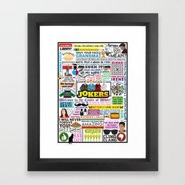 Impractical Jokers Collage Framed Art Print