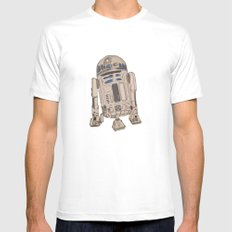 R2D2 Mens Fitted Tee White MEDIUM