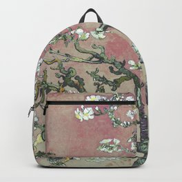 Almond Blossom - Vincent Van Gogh (pink pastel and cream) Backpack