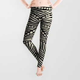 Black and Ivory Triangles Leggings