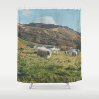 iceland Shower Curtains featuring Iceland by Chelle Wootten