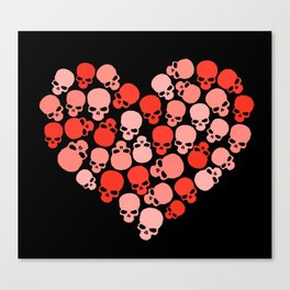 SKULL HEART FOR VALENTINE'S DAY Canvas Print