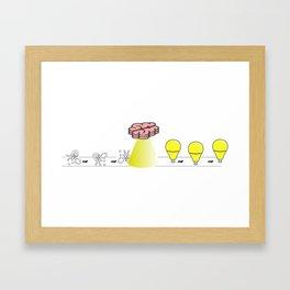 Working brain Framed Art Print