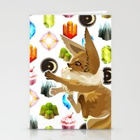 eevee Stationery Cards featuring Eevee by Katie O'Meara