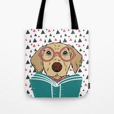 Reading Dog Tote Bag