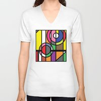window V-neck T-shirts featuring Window by Akehworks
