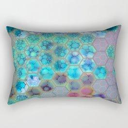 Onion cell hexagons Rectangular Pillow