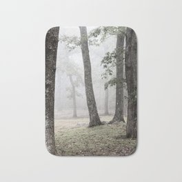 Mysterious Ancient Trees in a Misty Ghostly Forest. Bath Mat