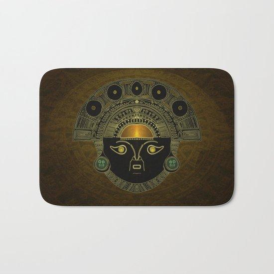God Sun mask (INTI) Bath Mat