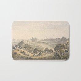 Australian Landscapes by Eu von Guerard Date 1865  Romanticism  Landscape Bath Mat