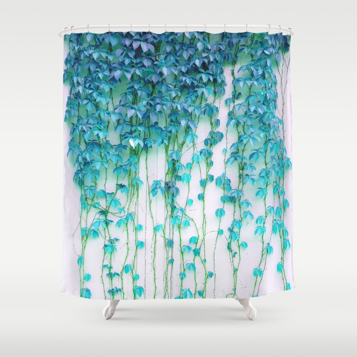 Turquoise And Coral Shower Curtain. Average Absence  society6 buyart decor Shower Curtain by