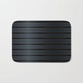 Black Silk Stripes Bath Mat