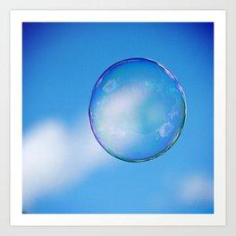 Single Floating Bubble Art Print