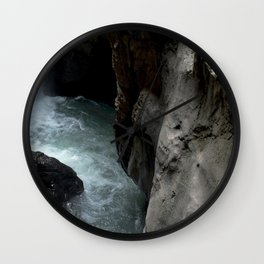 Peering into the Pool of Box Canyon Falls Wall Clock