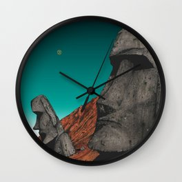 Easter Island 1 Wall Clock