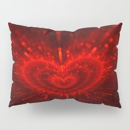 Cupid's Arrows | Valentines Day | Love Red Black Heart Texture Pattern Pillow Sham
