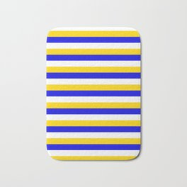 Bosnia Herzegovina Uruguay flag stripes Bath Mat
