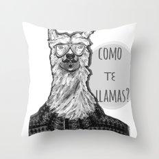 Hola! Throw Pillow