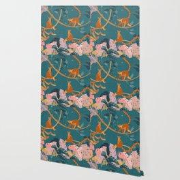 Lemurs in the jungle Wallpaper