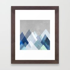 Graphic 107 X Blue Framed Art Print