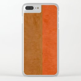 Shades of Brown Clear iPhone Case