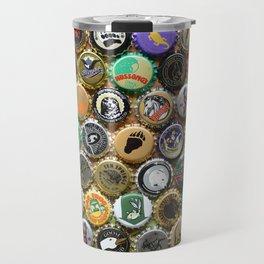 Beer Bottle Cap Animal Art Travel Mug